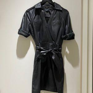 Lamb skin leather dress